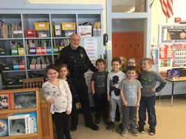 School Resource Officer King visits first grade!