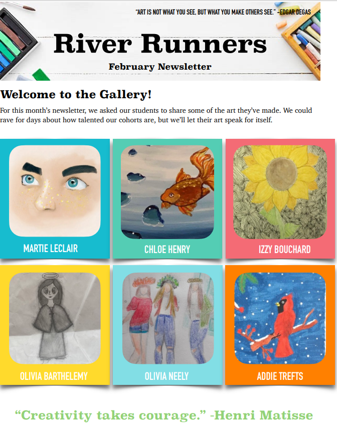 River Runners February 2021 Newsletter
