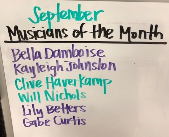 Musicians of the month