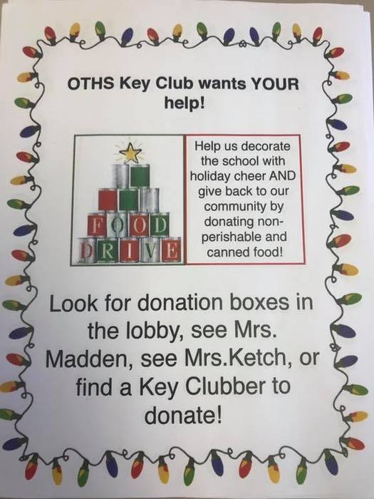 Key Club Food Drive
