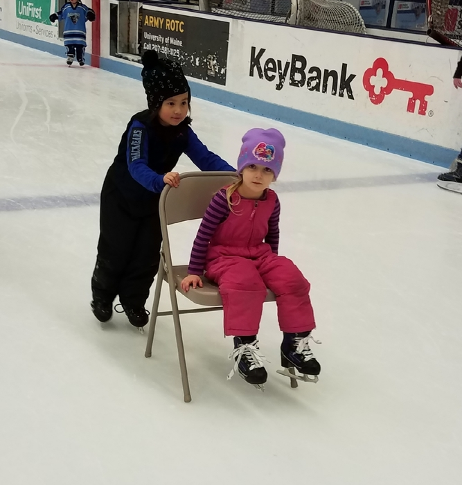 Our pre-k kids were skating too!