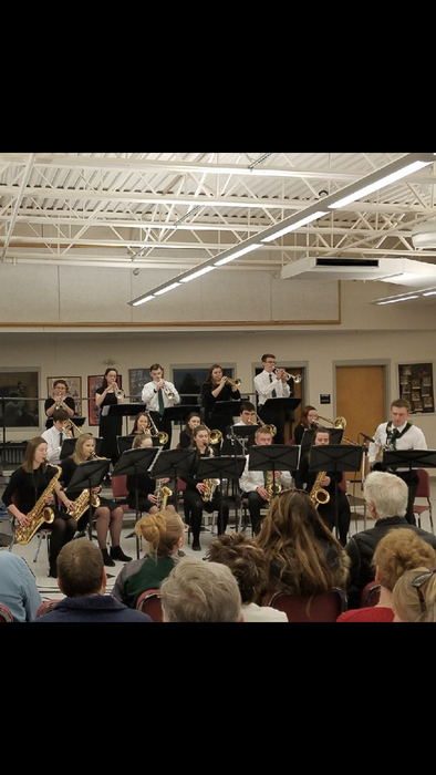 OTHS Jazz Ensemble performing at the Jazz Festival at South Portland HS this morning.
