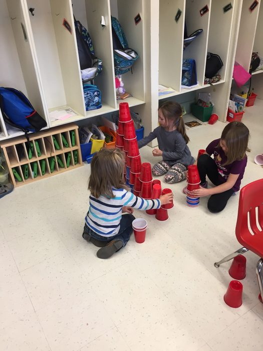 Kindergarten 100 day cup stack!