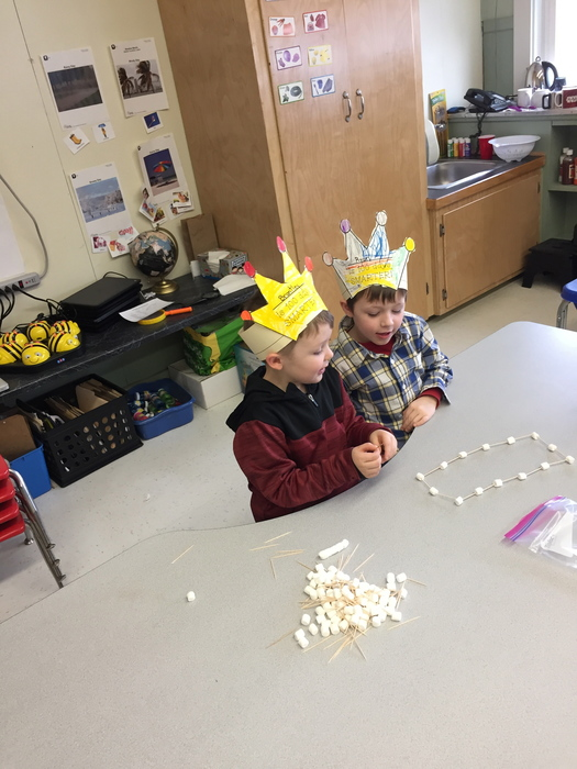 Kindergarten 100 day marshmallow and toothpick creation!