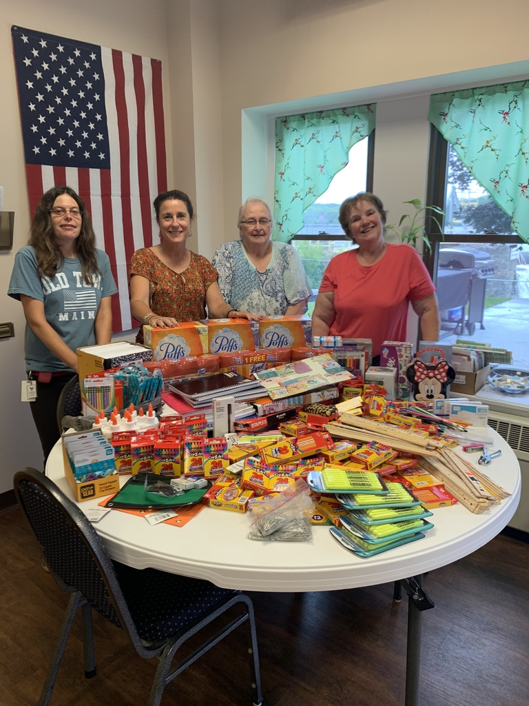 River House Residents Give School supplies