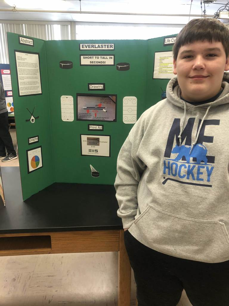 Liam Murphy, 3rd Place in 7th Grade, The Everlaster-the Extendable Hockey Stick